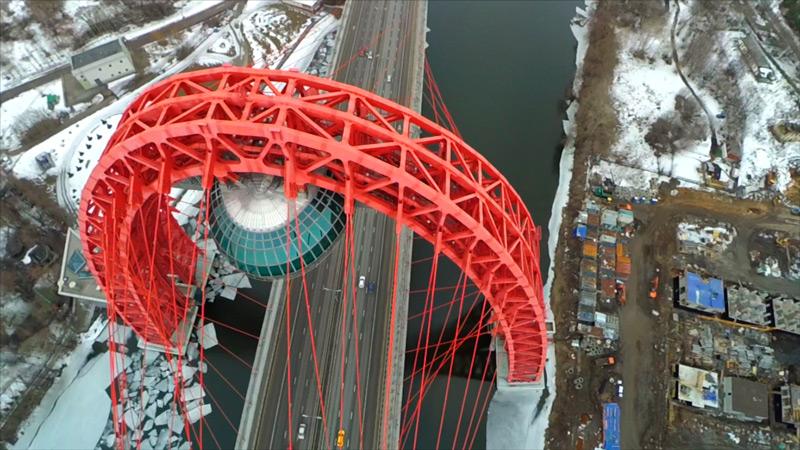 Аэросъемка Живописного моста